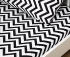Living Textiles Baby 2-Piece Chevron Cot Sheet Set - Black 2