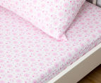 Living Textiles Baby 2-Piece Hearts Cot Sheet Set - Pink 2