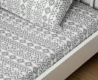 Living Textiles Baby 2-Piece Tribal Cot Sheet Set - Grey 2
