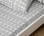 Living Textiles Baby 2-Piece Tribal Cot Sheet Set - Grey 2