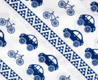 Living Textiles Baby 2-Piece Car Cot Sheet Set - Navy Blue 4
