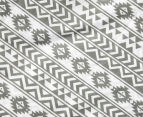 Living Textiles Baby 2-Piece Tribal Cot Sheet Set - Grey 4