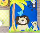 Happy Kids Jungle Single Bed Quilt Cover Set - Navy Blue 2