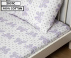 Living Textiles Baby 2-Piece Butterfly Cot Sheet Set - Purple 1