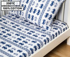 Living Textiles Baby 2-Piece Car Cot Sheet Set - Navy Blue 1