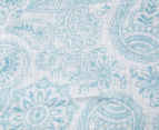 Living Textiles Henna Smart-Swaddle Muslin Wrap - Blue 2