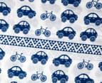 Living Textiles Car Smart-Swaddle Muslin Wrap - Navy Blue 2