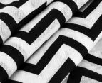 Living Textiles Chevron Smart-Swaddle Muslin Wrap - Black 3