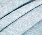 Living Textiles Henna Smart-Swaddle Muslin Wrap - Blue 3
