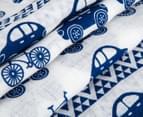 Living Textiles Car Smart-Swaddle Muslin Wrap - Navy Blue 4