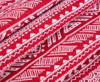 Living Textiles Smart-Swaddle Muslin Wrap Tribal - Red 4