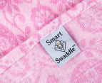 Living Textiles Birds Smart-Swaddle Muslin Wrap - Pink 5