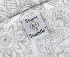 Living Textiles Henna Smart-Swaddle Muslin Wrap - Silver 5