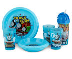 Zak! Thomas the Tank Engine 10-Piece Feeding Set - Blue 1