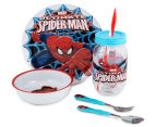 Zak! Spiderman 5-Piece Meal Set - Blue/Red 1