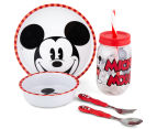 Zak! Mickey Mouse 5-Piece Meal Set - Red/White 1