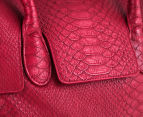 Lässig Tender Brief Baby Bag - Red Faux Snake 4