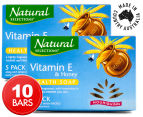 2 x Natural Selections Nourishing Vitamin E & Honey Health Soap 5pk 1
