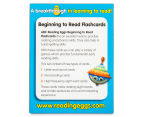ABC Reading Eggs: Beginning To Read Flashcards Ages 4-6 Years Pack 5