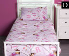 Dora the Explorer Double Bed Sheet Set - Pink/Multi 1