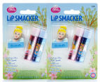 2 x Lip Smacker Cinderella Duo Balms w/ Keychain Topper 1