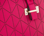 Kardashian Kollection Women's Punch Quilt Bowler - Beetroot 5
