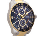 GUESS Men's 46mm Jet Watch - Silver/Gold/Blue 2
