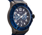 GUESS Men's 45mm Rigor Watch - Blue/Gunmetal 2