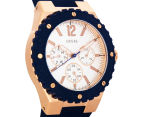 GUESS Women's 39mm Overdrive Watch - Navy/Rose Gold/Silver 2