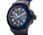GUESS Men's 45mm Rigor Watch - Blue/Gunmetal 3