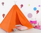 Happy Kids 135x130cm Teepee Tent - Orange 2
