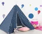 Happy Kids 135x130cm Teepee Tent - Navy Stars 2