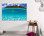 Reef Shark by Adam Duffy 75x50cm Framed Canvas Wall Art 2