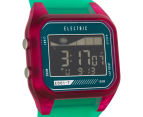 Electric Women's ED01-T PU Digital Watch - Seafoam Pink 2