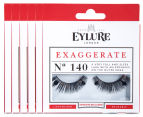 6 x Eylure Exaggerate Lashes 1