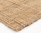 Maple & Elm 220x150cm Natural Fibre Chunky Knit Jute Rug - Natural 2
