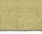 Maple & Elm 220x150cm Natural Fibre Chunky Knit Jute Rug - Green 3