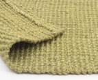 Maple & Elm 220x150cm Natural Fibre Chunky Knit Jute Rug - Green 5