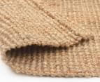 Maple & Elm 220x150cm Natural Fibre Chunky Knit Jute Rug - Natural 5