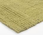 Maple & Elm 270x180cm Natural Fibre Chunky Knit Jute Rug - Green 2