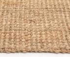 Maple & Elm 270x180cm Natural Fibre Chunky Knit Jute Rug - Natural 3