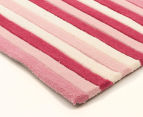 Modernity 165x115cm Super Soft Acrylic Rug - Candy Stripe 2
