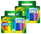 Crayola 48-Piece Washable Sidewalk Chalk Twin Pack 1