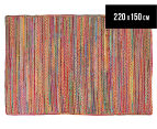 Maple & Elm 220x150cm Summer Braid Rug - Multi 1