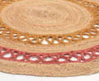 Maple & Elm 200cm Summer Loop Jute Rug - Pink/Yellow 2