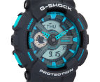 Casio G-Shock Men's 50mm GA110TS-8A2 Duo Watch - Grey/Blue 2