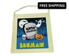 Personalised Kids' Halloween Tote Bag - Beige 1