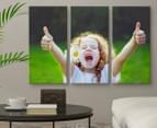 Personalised 3-Piece 60x30cm Rectangle Canvas Set 2