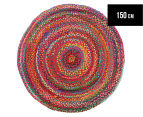 Maple & Elm 150cm Summer Whirl Cotton Rug - Multi 1