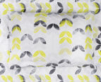 Belmondo Leaves Double Bed Quilt Cover Set - Black/Lime/White 5